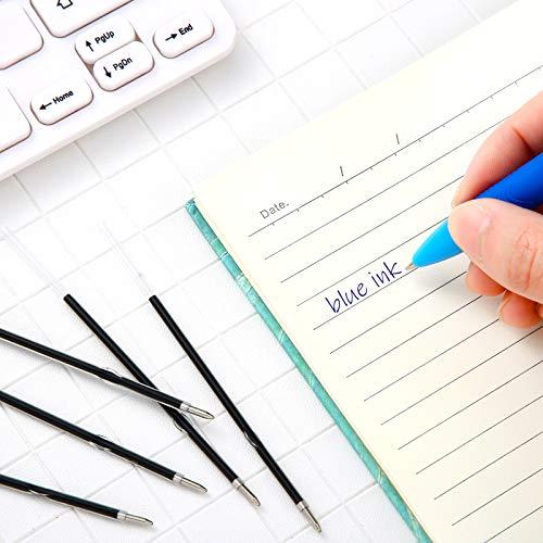 Sepamoon Retractable Pen Refills 0.7mm Ballpoint Pen Refills Replacement Gel Ink Refills Blue and Black Ink Refills for Retractable Pens, Office School Supplies (120) Photo #3