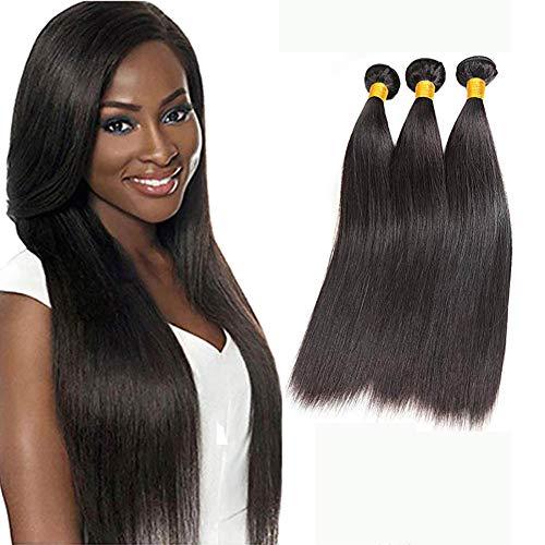 Ladiary High quality Remy Brazilian Human Hair Bundles Unprocessed Virgin Straight Human Hair Natürliches Glatt Menschliches Haar 300g Brasilianische Haare glatt 3 bundles 12 14 16 Zoll
