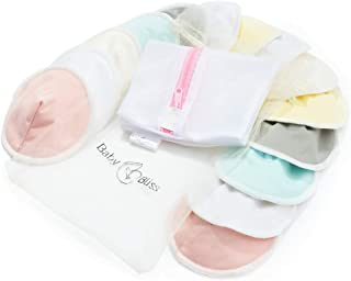 Washable Bamboo Nursing Pads | Pack of 14+3 Bonus Items| with 3 Size Variants l Reusable| Soft & Super Absorbent | Leak-Proof | with Laundry & Organza Bags | Perfect Baby Shower Gift (XLarge)