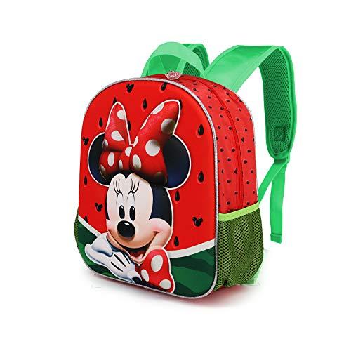 Karactermania Minnie Mouse Sandía - Mochila 3D (Pequeña) Multicolor