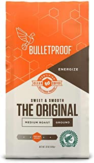 Bulletproof The Original Ground Coffee, Premium Medium Roast Gourmet Organic Beans,..