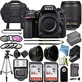 Nikon D7500 20.9MP DSLR Digital Camera Body w/AF-S DX NIKKOR 18-140mm f/3.5-5.6G ED VR Zoom Lens + 2 Pcs SanDisk 64GB Memory Card + Padded Camera Bag + Accessory Bundle (Black)