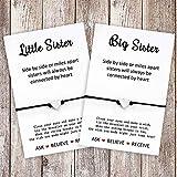 MANVEN Sister Bracelets Matching Wish Bracelet Sis Jewelry Gift for Big Sis Lil Sis Women Girls