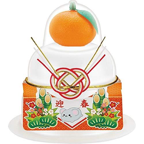 【お歳暮期間限定販売】 サトウの福餅入り鏡餅(橙付)小飾り迎春