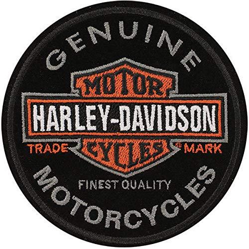 Harley-Davidson Aufnäher Long Bar & Shield, rund