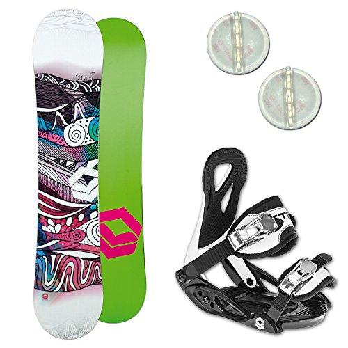 Ftwo Gipsy Kinder Snowboard Set ~ 140 cm + ELFGEN Team BINDUNG GR. M + PAD