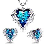 CDE Jewelry Set Blue Crystals from Austrian Crystals Sets for Women Wedding Anniversary Birthday Christmas Jewelry Gifts for Women Mom