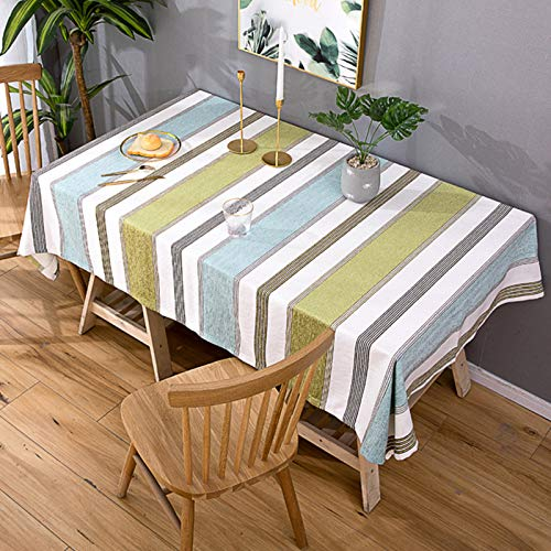 ZYYQ Rectangular Tablecloth,Cotton and Linen Table Cloths,Fitted Table Cover,Erasable Tablecloths Cover,for Kitchen Table Decoration Christmas Halloween Easter,80x150cm
