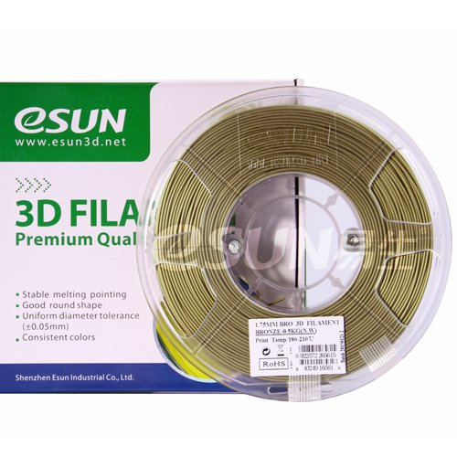 eSUN Bronze Filament 3mm 0.5kg(1.1lb) Spool for Makerbot, Reprap, UP, Afinia, Flash Forge and All FDM 3D Printers