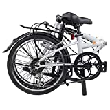 "DAHON Dream D6 Folding Bike, Lightweight Aluminum Frame; 6-Speed Shimano Gears; 20"" Foldable Bicycle for Adults, White"