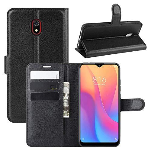 Capa Capinha Carteira 360 Para Xiaomi Redmi 8a Tela De 6.22Polegadas Case Couro Flip Wallet - Danet (Preta)