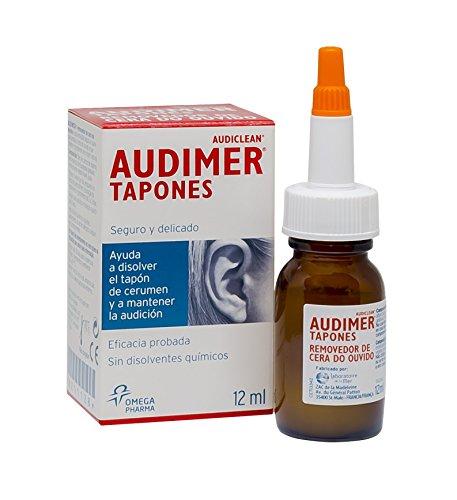 Audimer Tapones - Ayuda a disolver el tapón de cera. Eficacia probada. Seguro y delicado - 12 ml