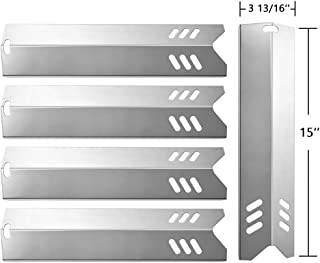SHINESTAR Grill Replacement Parts for Dyna-Glo, Backyard Grill BY13-101-001-13, BY14-101-001-02, BY15-101-001-02, Uniflame GBC1059WB, BHG, 15 inch SS Heat Plate Shield Tent Flame Tamer(5 pcs SS-HP014)