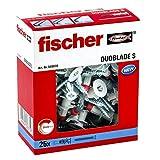 Fischer Duoblade S 545676 - Tacos de yeso autoperforante, incluye tornillos, tacos para pl...