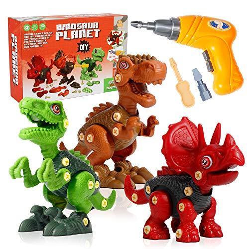 Mini Tudou Take Apart Dinosaur Toys for Kids 3 4 5 6 7 Years Old, Dino Building...
