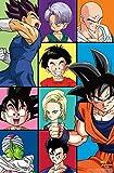 Trends International Dragon Ball Z - Grid Wall Poster, 22.375' x 34', Premium Unframed Version