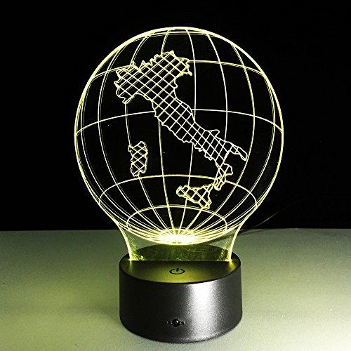 3D nachtlampje kaarten 7 kleuren afstandsbediening touch slaapkamer lamp hoofddecoratie, kinderen kerstcadeau