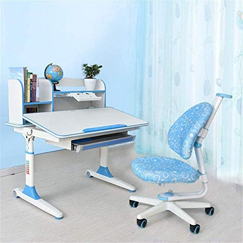 N/Z Daily Equipment Kids Study Table and Chair Sets Ergonomic Children's Desk and Chair Set Height Adjustable Tiltable School Desk Chair