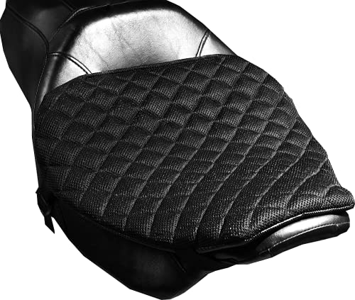 Pro Pad Quilted Diamond Mesh SuprCruzr Gel Motorcyle Seat Pad