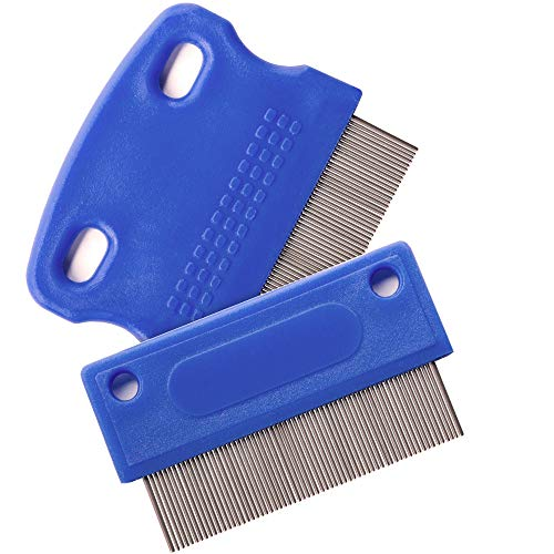 Dog Comb - Tear Stain Remover - Dog Eye Stain Remover - Dog Grooming Comb - Comb for Dogs - Gently Removes Mucus and Crust - Tear Stain Remover for Dogs - Pet Tear Stain Remover - Set of 2