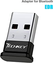 TECHKEY Adapter Compatible with Bluetooth for PC USB Dongle for Bluetooth EDR Receiver Wireless Transfer for Stereo Headphones Laptop Windows 10, 8.1, 8, 7, Raspberry Pi