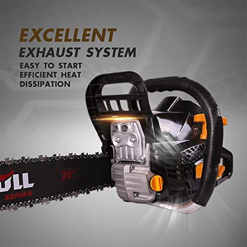 X-BULL 20-Inch Gas Powered Chain Saw 58cc