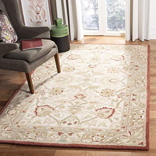 Safavieh Anatolia Collection AN512E Handmade Traditional Oriental Beige and Rust Premium Wool Area Rug (6' x 9')