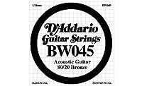 D'Addario ダダリオ アコースティックギター用バラ弦 80/20ブロンズ .045 BW045 【国内正規品】