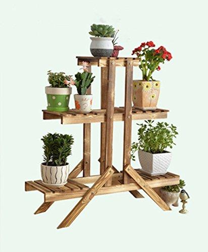 HZA Pergolen aus Holz, Blumenmehrschichtholz , Holz im Erdgeschoss Spinne Blumentopf montiert Hochwertige Materialien ( größe : C1 )
