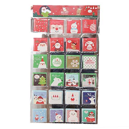 Faviye Weihnachtskarten 144PCS Bunte Nette Muster Klappkarten Weihnachts postkarten Für Weihnachtswünsche