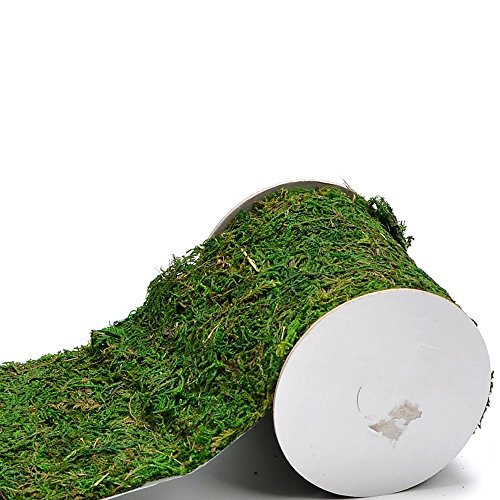 Byher Roll of Green Moss for Fairy Gardens Wedding Other Arts and Crafts (10x120cm (4