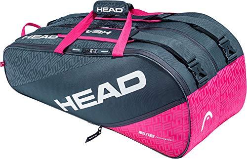 HEAD Elite 9R Supercombi, Borsa per Racchetta Unisex Adulto, Antracite/Rosa
