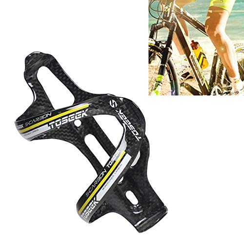 Hanks' Shop Bottle Cage Holder for Bike,Water Bottle Holder for Bike,Holder Gloss Full Carbon Fiber Road Bicycle Water Bottle Holder (Color : Yellow)