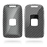 kwmobile Funda Compatible con Renault Llave de Coche Smart Key de 4 Botones (Solo Keyless Go) - Carcasa Dura para Llave de Coche Mando de Auto - Carbono Negro