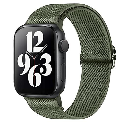 Harikiri Cinturino Nylon Solo Loop compatibile con cinturini Apple Watch 38mm 40mm 42mm 44mm, cinturino sportivo elastico intrecciato regolabile da donna da uomo per iWatch Series 6/5/4/3/2/1/SE