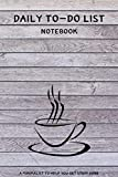 Daily To-Do List Notebook: A Minimalist Planner to Help You Get Stuff...