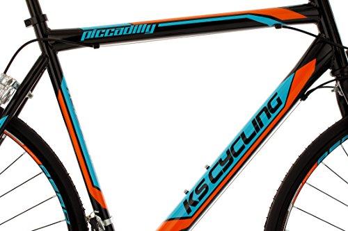 KS Cycling Rennrad 28'' Piccadilly schwarz-orange-blau RH59cm - 2