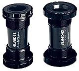 Elvedes Boitier de pédalier BSA 24-22mm GXP (SRAM) Caja de Pedal Bicicleta, Unisex Adulto, Negro, tamaño estándar