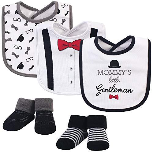 Little Treasure Baby Boy Bibs & Socks Set, 5pc