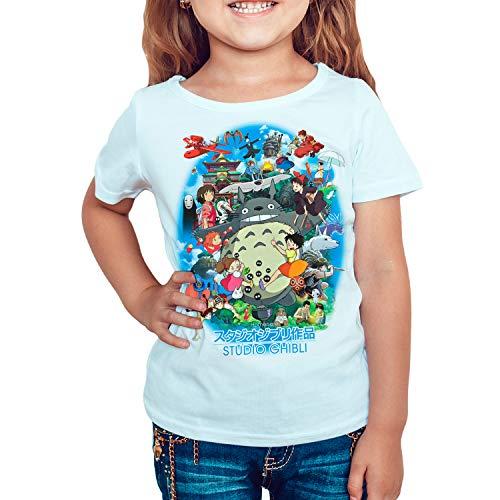 DibuNaif Camiseta Cine Animación niña - Unisex Homenaje Studio Ghibli, Totoro