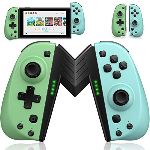 ECHTPower Wireless Controller for Nintendo Joycon Switch, Macro Button/Turbo/Vibration/Motion Functions, L/R Switch Controller Joypad, Wireless Controllers for Nintendo Switch- Turquoise