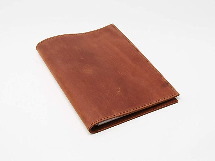Notepad Holder Leather Notepad Holder Legal Pad Holder Notebook Holder Crazy Horse Leather Padfolio - Business Gift - Made in USA (Chestnut)