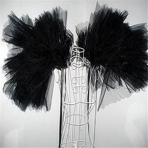1pcs nagelneues Verbandsmull Flügel Schulterschmuck Bühne zeigen Kleidung Schwarz