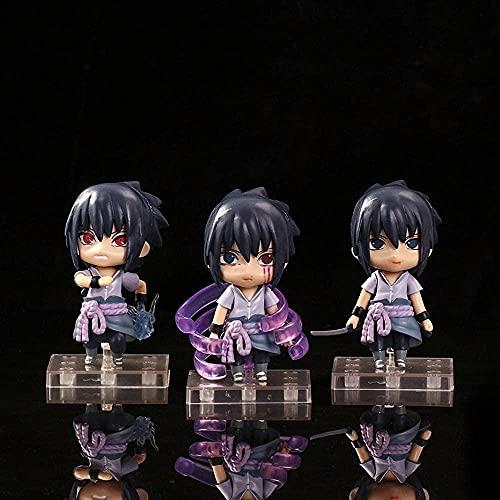 YDDM Naruto 3pcs Anime Figurines Susanoo Uchiha Sasuke Statue Model Statue Anime PVC Toys Collection Doll Doll PVC Gift For Children and Anime Fans