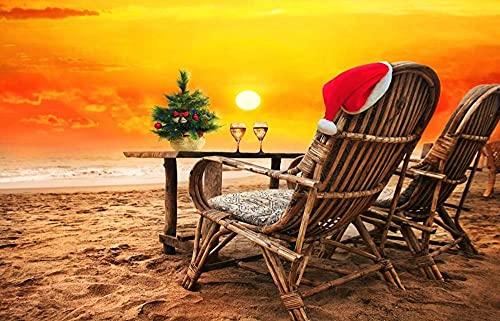 YHKTYV Solnedgång strand lounge landskap karta pussel för vuxna 1 000 bitar pussel utmanande spel gåva leksaker för vuxna barn tonåringar familjepussel