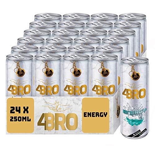 4BRO Energy - Kohlensäurehaltiger Energy-Drink mit Fruchtgummi-Geschmack, Mit Taurin, Koffein und Vitaminen für mehr Power - 24 x 250 ml