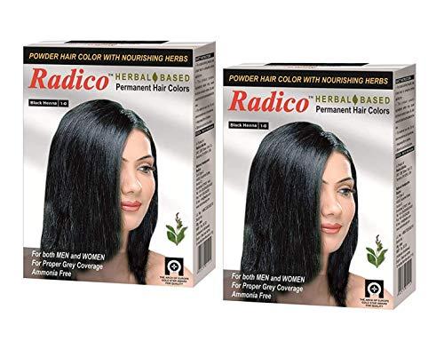 Radico Herbal Based Black Hair Color - Ammonia Free - Twin Pack