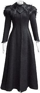 Xiao Maomi Womens Queen Black Fur Collar Dress Cosplay Costume