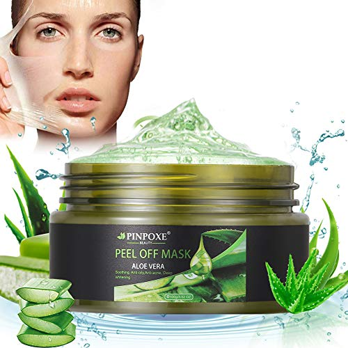 Blackhead Remover Mask, Blackhead Peel off Mask, Peel off Face Masks, Aloe Vera Extract Facial Mask- Anti-Aging, Exfoliating Mask, Deep Cleansing Blackhead& Pore,Reduces Fine Lines& Wrinkles- 3.52 OZ