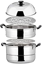 XMDD Household Stainless Steel Steamer Thick And Durable Convenient Safe And Sanitary Soup Pot Suitable For Induction Cook...